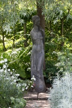 Sissinghurst - Statue in White garden