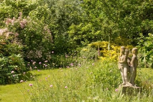 Statue in Nature Garden