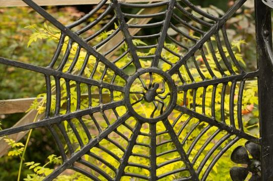 Spider detail in Secret Garden - Crown House