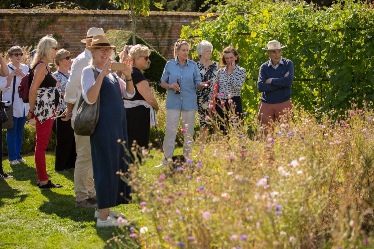Lady Xa Tollemache giving organised tour of her garden