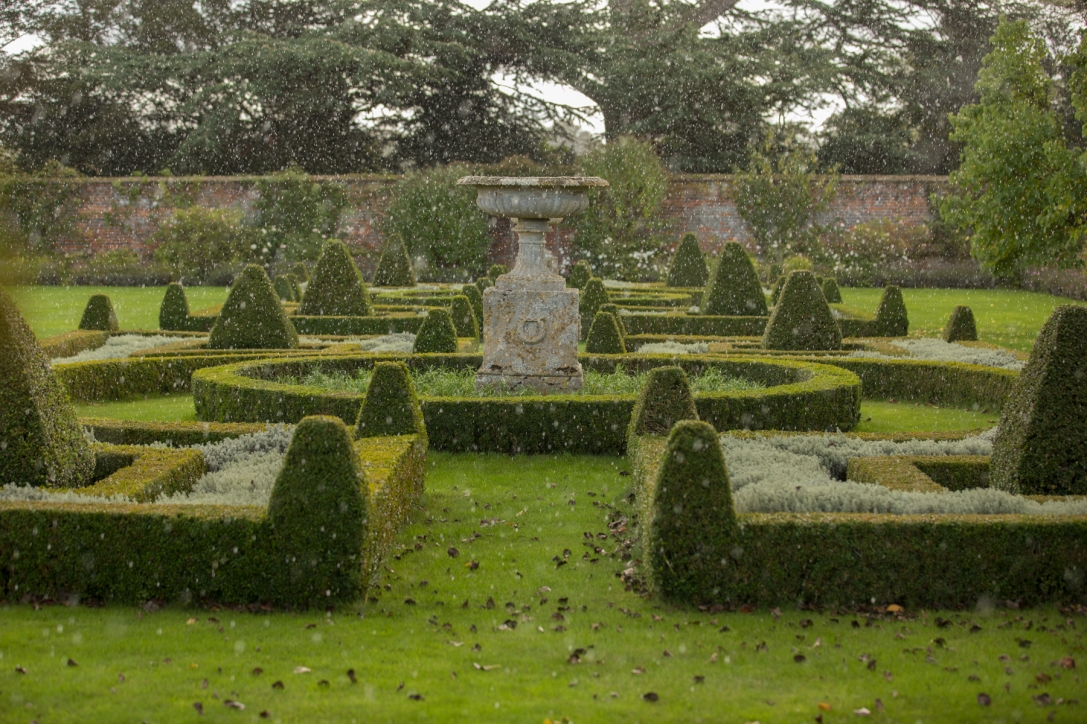 The Parterre in the rain